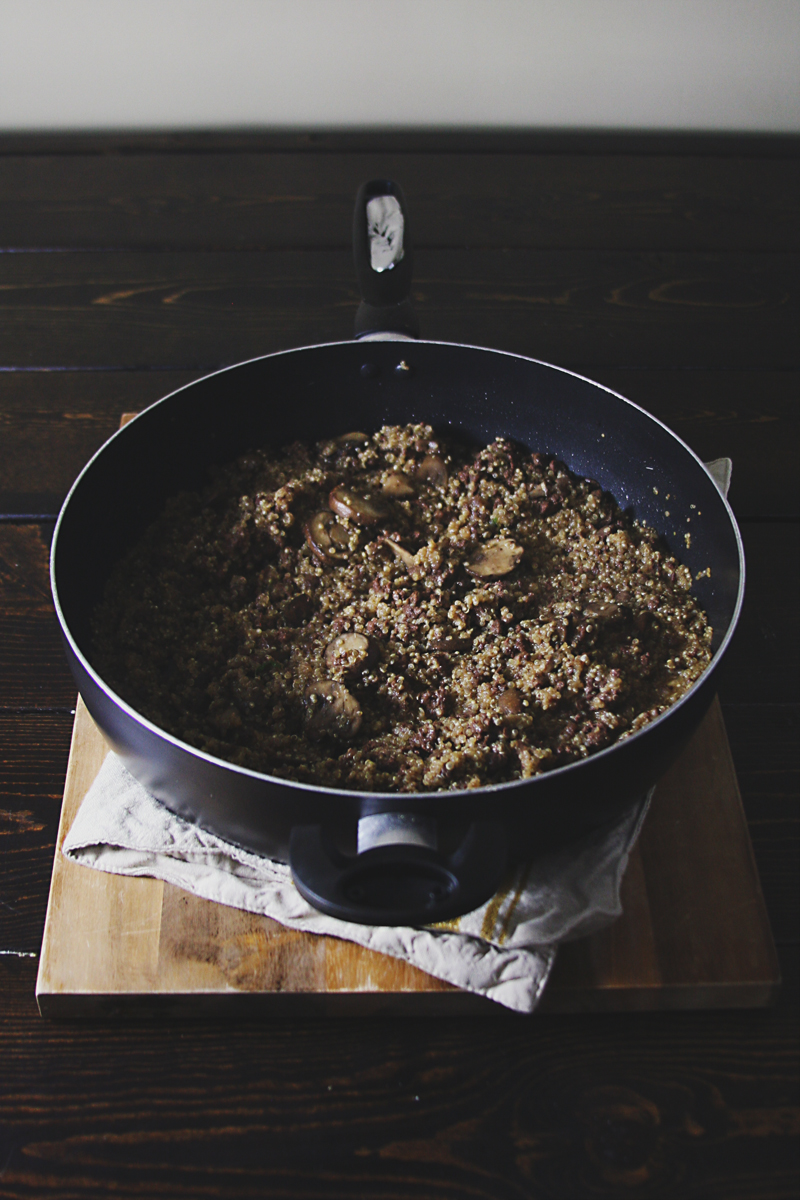 venison-mushroom-quinoa-skillet-2