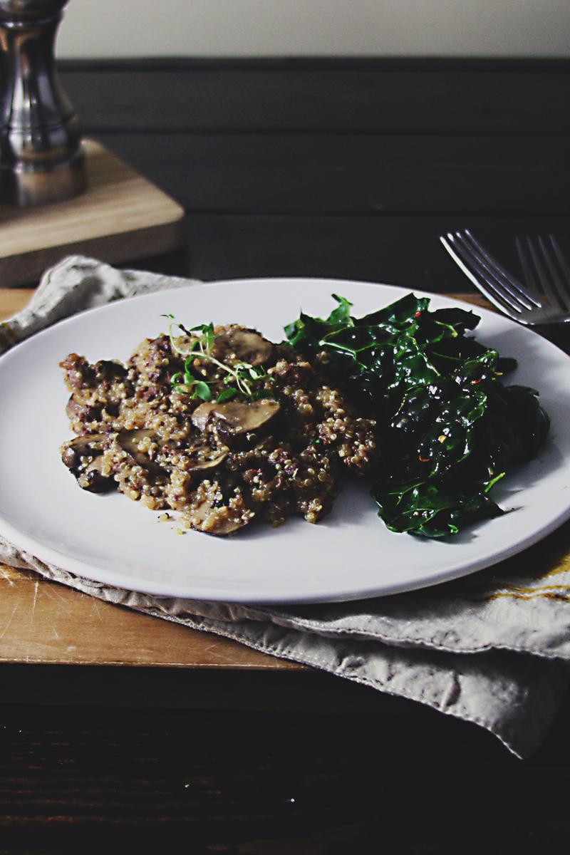venison-mushroom-quinoa-skillet-6