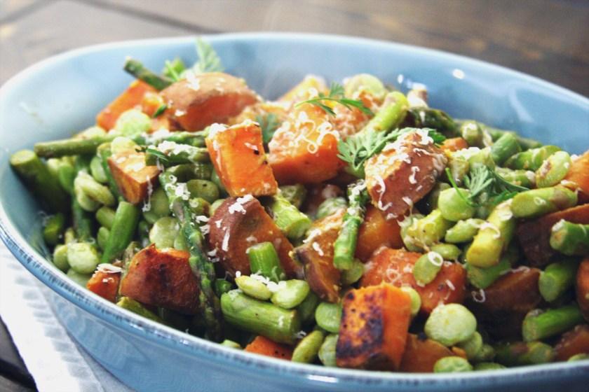 chicken-asparagus-lima-bean-sweet-potatoe-hash-4