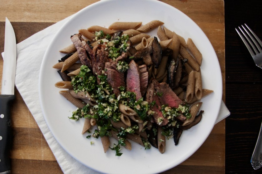 steak-mushroom-penne-walnut-kale-pesto-5