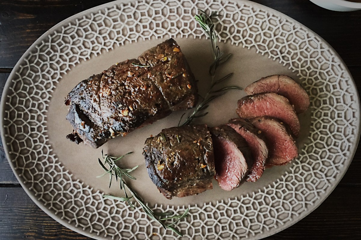 Rosemary Garlic Crusted Venison Backstrap