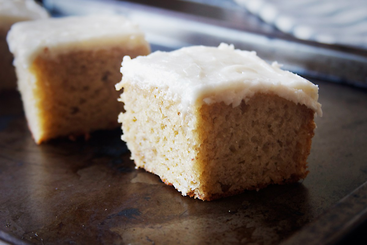 Banana Cake with Spiced Rum Frosting