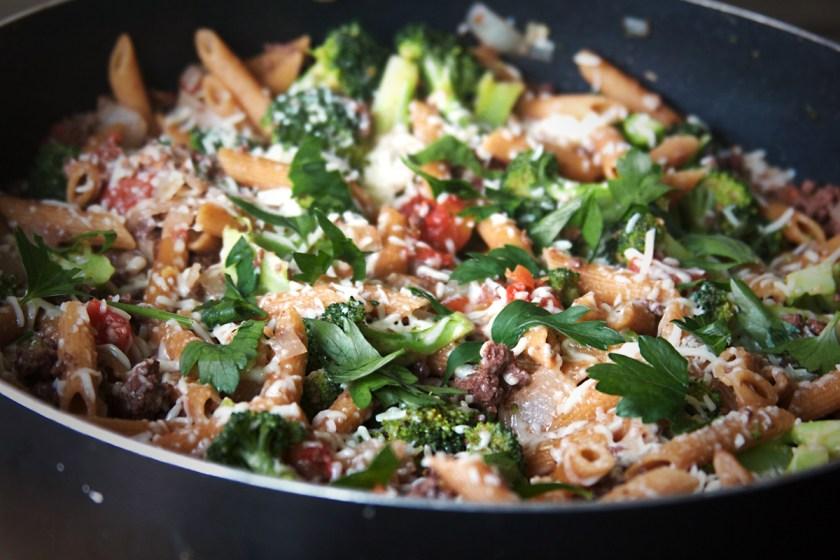 one-pan-sausage-penne-broccoli-5