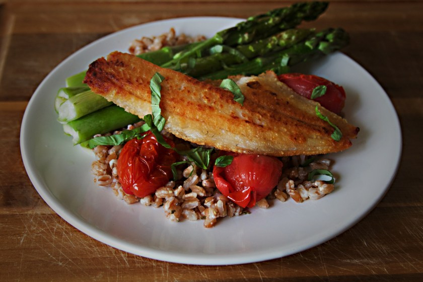 pan-fried-walleye-farro-tomatoes