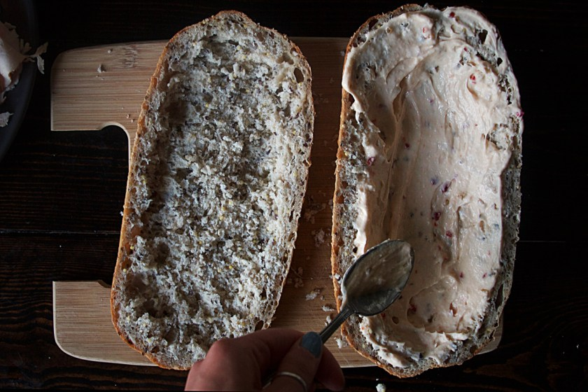 turkey-roasted-pepper-cream-cheese-pressed-sandwich-2
