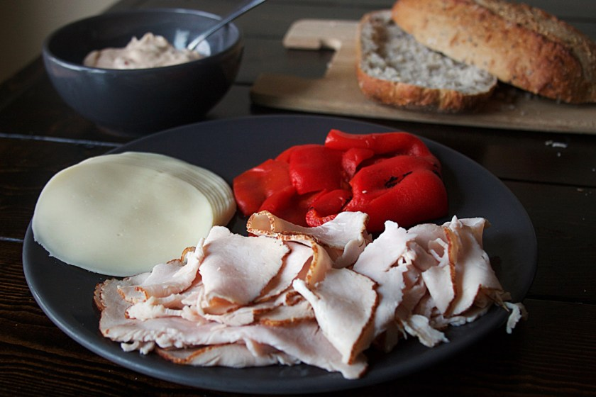 turkey-roasted-pepper-cream-cheese-pressed-sandwich-3