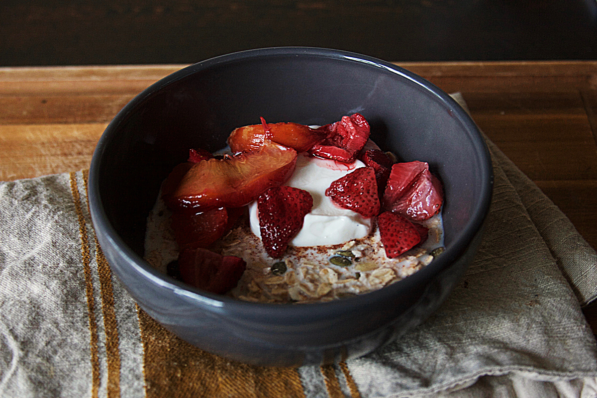 Homemade Muesli with Roasted Fruit