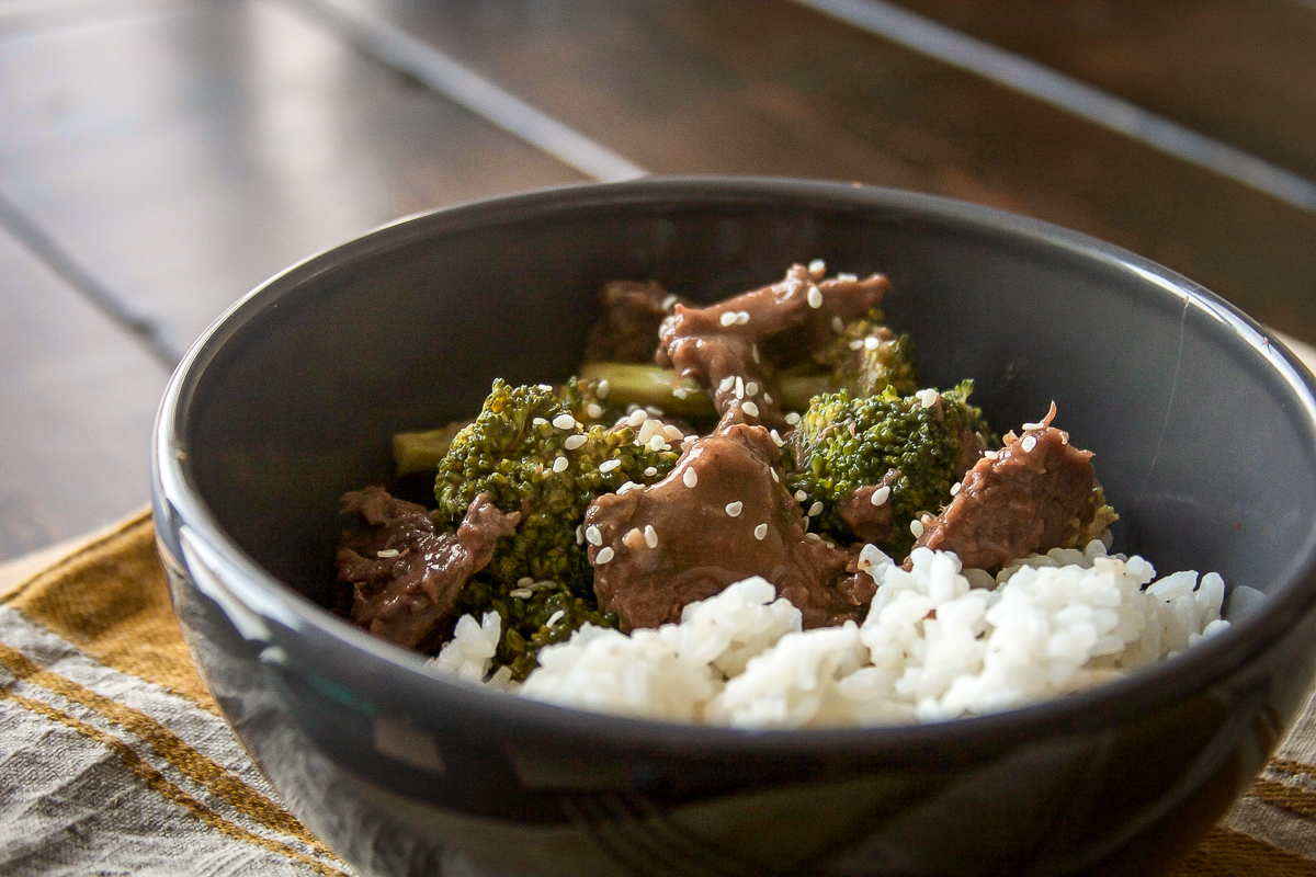 Slow Cooker Mongolian Venison and Broccoli