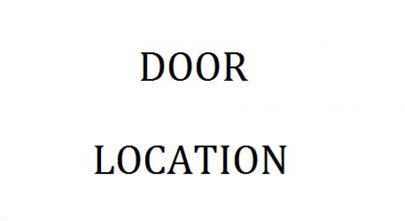 HOW TO SELECT THE LOCATION OF DOORS IN A BUILDING
