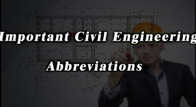 Useful Civil Engineering Abbreviation