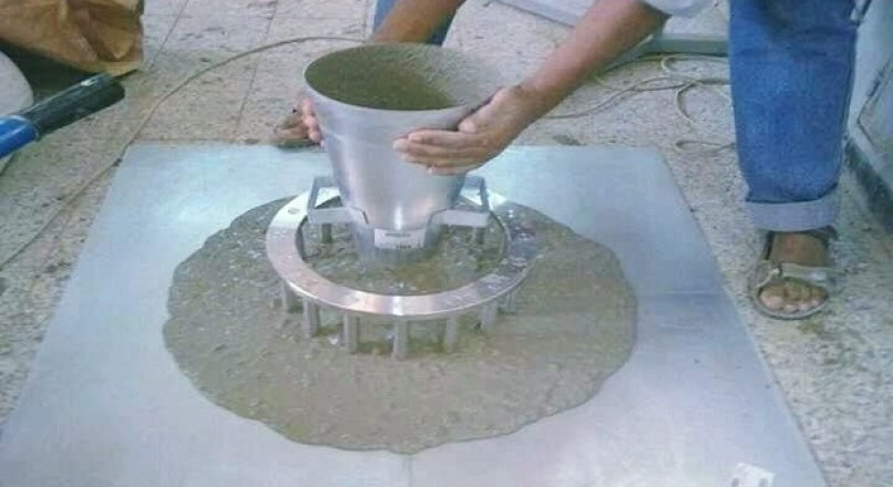 Flow Table Test To Measure The Flow Value Of Concrete