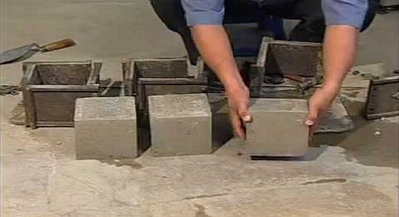 Compressive Strength Test Of Concrete Cubes