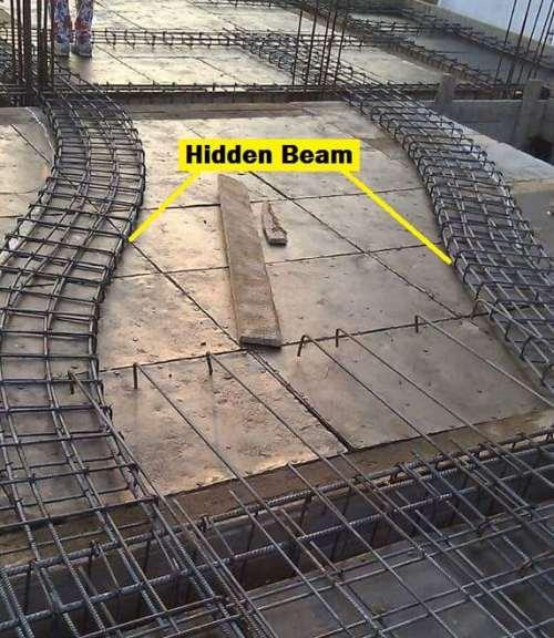 hidden beam