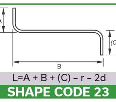 bar bending shape codes