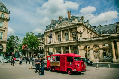 The H Van in Front of the Conseil d'Etat by Thierry Stein