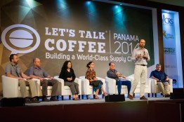 The panelists discuss Geisha: The Famed Bean, Ten Years On