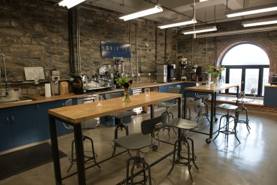 The Nobletree Coffee Roastery and Tasting Room in Red Hook, Brooklyn. Photo by Kevin Hatt, courtesy of Nobletree.