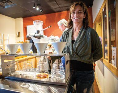 Hilary Clark in the company's new tasting room.