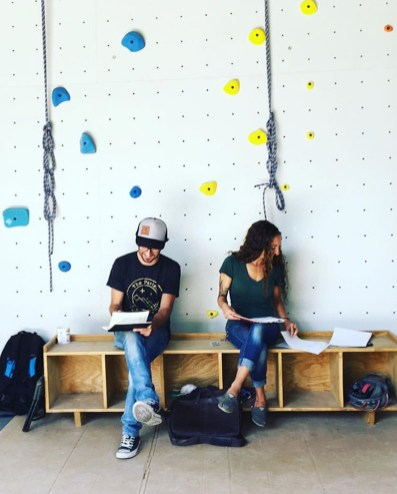 Jared and Destiny Marquez preparing for the cafe opening. Photo by Steve Schwartz, courtesy of Refuge Coffee.