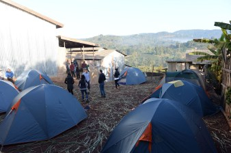 We set camp at Kerchanshe's Adola Washing Station and used it as our primary base. Photo by Mark Shimahara/Daily Coffee News