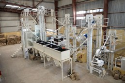 Kerchanshe Trading's Addis Ababa export standard dry mill. Photo by Mark Shimahara/Daily Coffee News