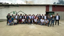 Participants and hosts gather at ECWx Honduras. Photo courtesy of Intelligentsia Coffee.