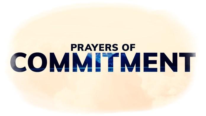 Prayer of Commitment