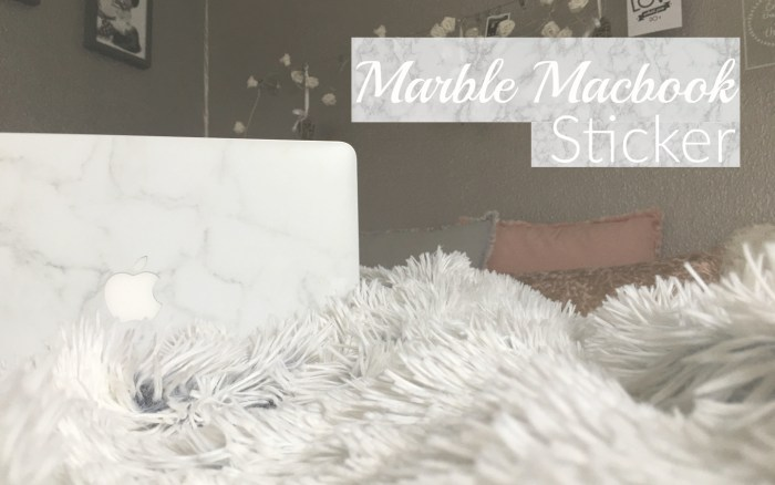 MARBLE MACBOOK STICKER