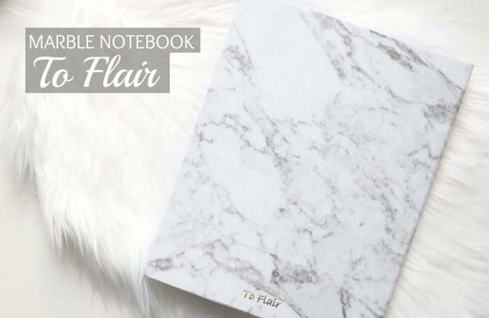 TO FLAIR MARBLE NOTEBOOK
