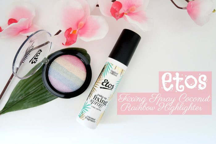 ETOS FIXING SPRAY COCONUT + RAINBOW HIGHLIGHTER