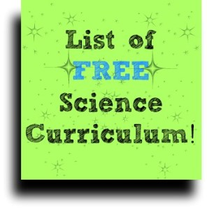List of FREE Science Curriculum