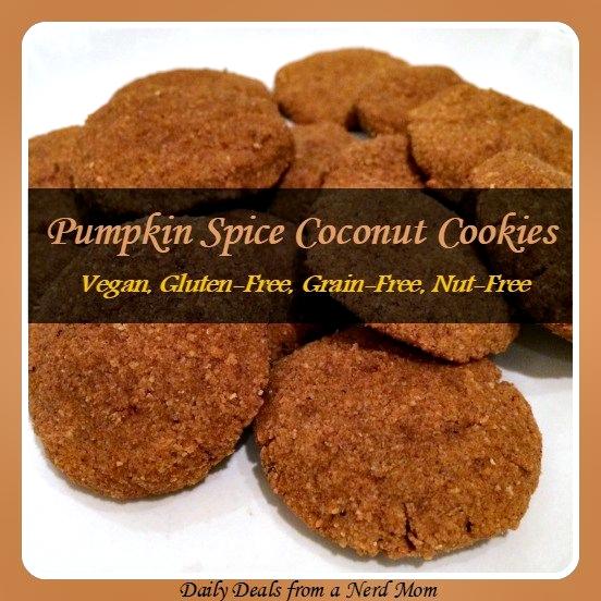 PUMPKIN SPICE COCONUT COOKIES {Vegan, Gluten-Free, Grain-Free, Nut-Free}