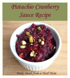 Pistachio Cranberry Sauce Recipe