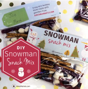 Vegan Snowman Snacks