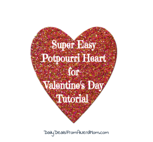 Super Easy Potpourri Heart for Valentine's Day Tutorial