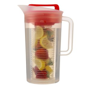 Primula Today Shake and Infuse Pitcher, 3-Quart, Red