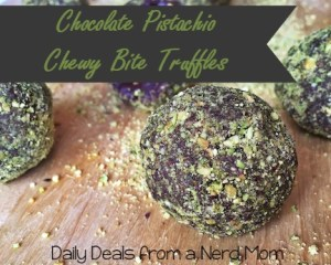 Chocolate Pistachio Chewy Bite Truffles Recipe