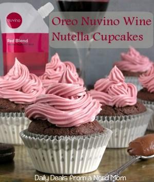 Oreo Nuvino Wine Nutella Cupcakes