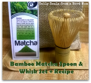 Bamboo Matcha Spoon and Whisk Set + #Recipe