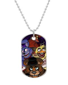 Five Nights At Freddy's Custom Cool durable Size 1.2 x 2.1 inches oval alumminum dog tag pet tag ID Necklace Pendant