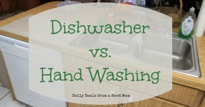 Dishwasher vs. Hand Washing