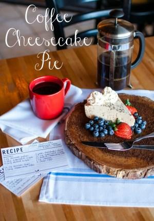Coffee Cheesecake Pie