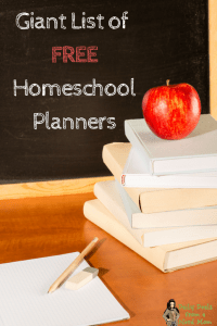 Giant List of FREE Homeschool Planners