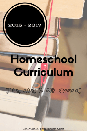 First Week Back to Homeschool – 2016 (Our Curriculum)
