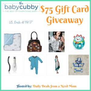 Baby Cubby $75 Gift Card #Giveaway {US, 4/19/17}