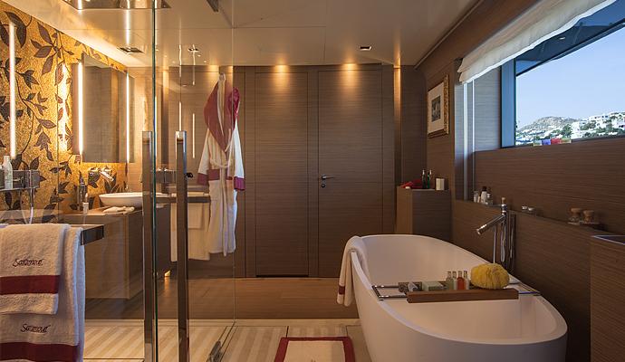 Jacht SARAMOUR - Badezimmer auf dem Oberdeck