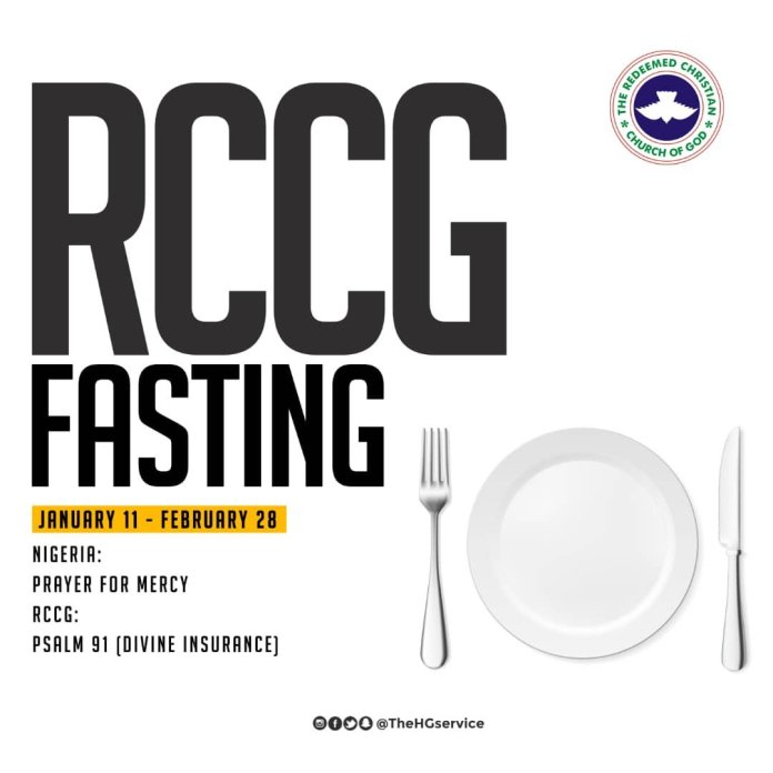 RCCG 2019 Fasting And Prayer Points Day 4 Monday 14 January