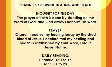 , Seeds of Destiny 8 April 2019 – Prayer: A Faith Enhancer