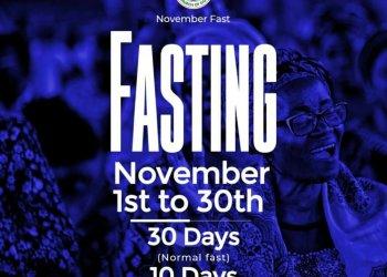 RCCG November 2019 30 Days Fasting Prayer Points Day 30