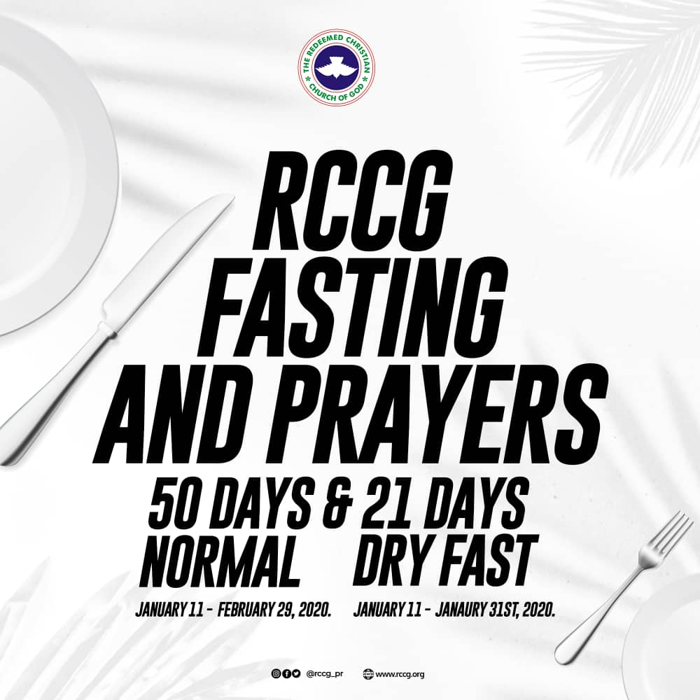 RCCG 2020 Fasting Prayer Points 16 January day 6, RCCG 2020 Fasting Prayer Points 16 January day 6